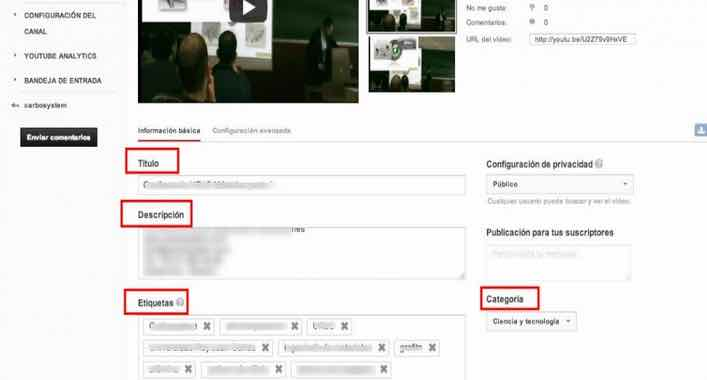 elementos a optimizar en youtube