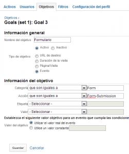 medir un formulario como evento