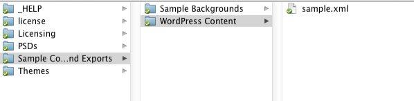 archivo sample wordpress