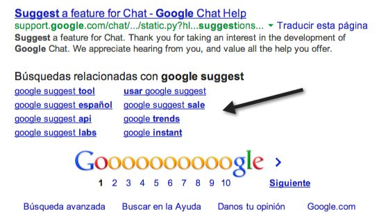 google sugest