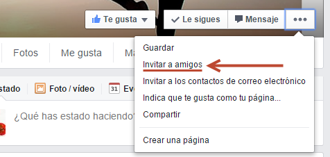 amigos invitar facebook
