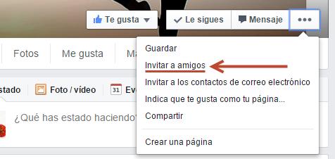 amigos invitar facebook