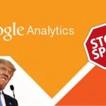 Cómo eliminar el tráfico spam de idioma Vota a Trump en Google Analytics